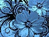 Papel de Parede Gratuito de Abstrato : Blue Flowers
