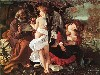 Papel de Parede Gratuito de Artes : Caravaggio - Rest on the Flight to Egypt